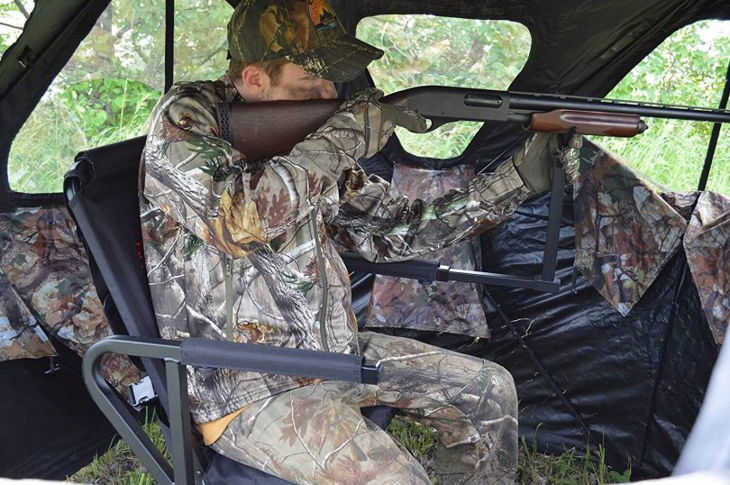 tips to a blind ways from channel properties best hunt turkey blinds sportsman small effectively ground for hunting