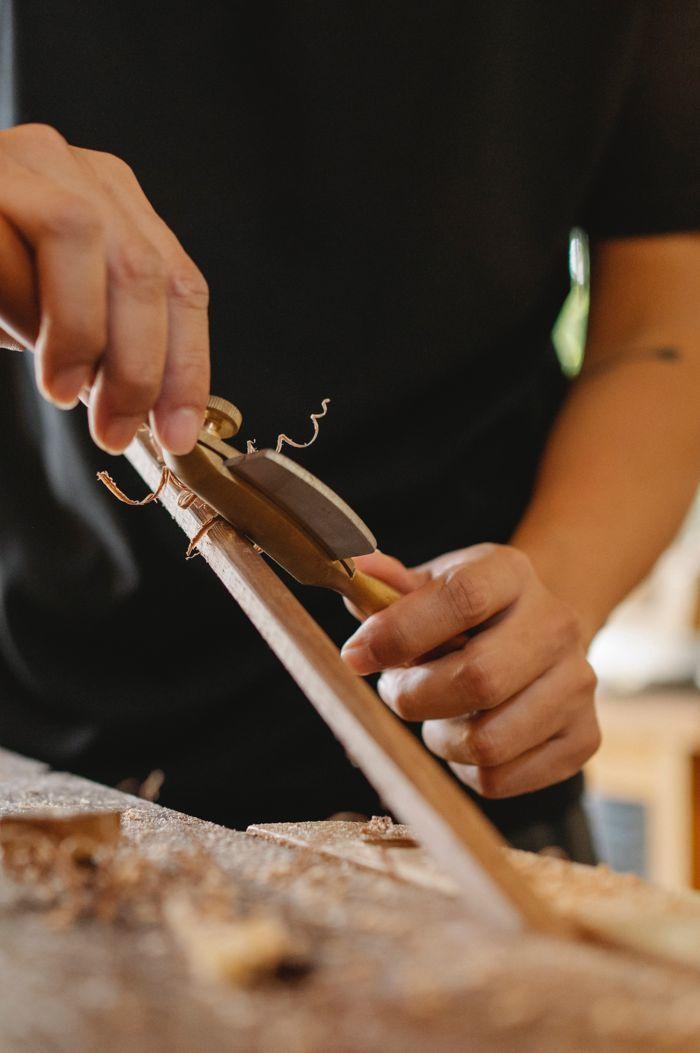 Making wooden sticks